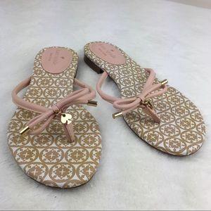 Kate Spade Mystic Bow Flip Flop Sandals Pink 7.5
